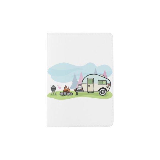 Vintage Style Camper Passport Holder