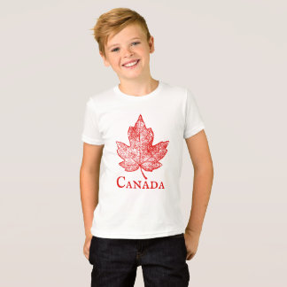 Vintage Style Canada Maple Leaf Kids Shirt