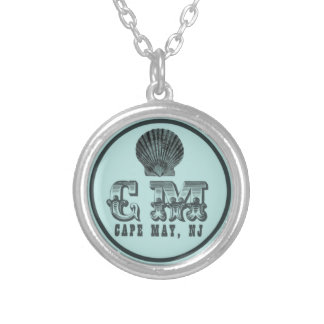 Vintage Style Cape May NJ Beach Tag Necklace