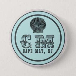 Vintage Style Cape May NJ Beach Tag Pin
