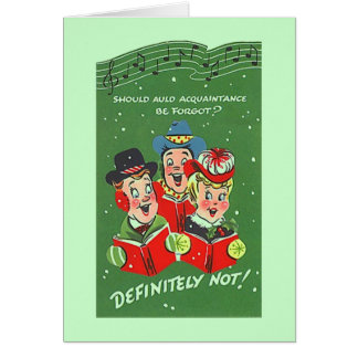 Vintage Style Card New Year's Friendships Friend