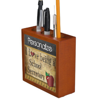 Vintage Style Chalkboard for a School Secretary Desk Organizers