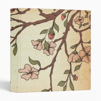vintage style cherry blossom art binder