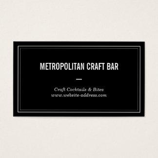 Vintage Style Craft Bar, Restaurant Business Card