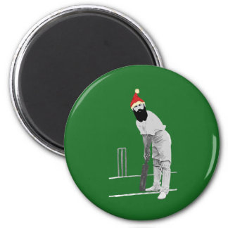 Vintage style cricketing christmas gifts magnet
