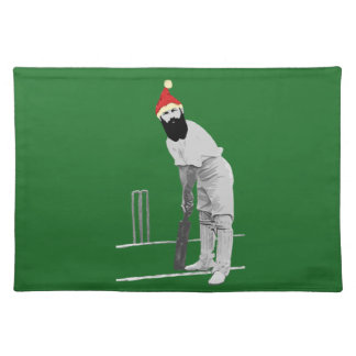 Vintage style cricketing christmas gifts place mat