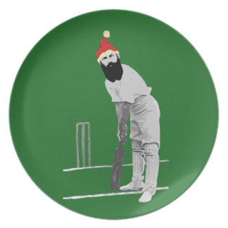 Vintage style cricketing christmas gifts plate
