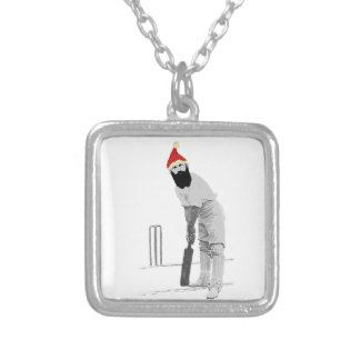 Vintage style cricketing christmas gifts silver plated necklace
