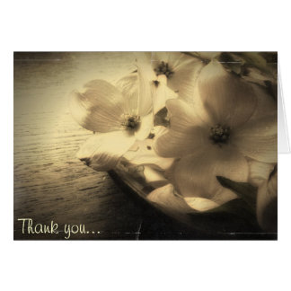 Vintage Style Dogwood Bloom Thank You Note Card