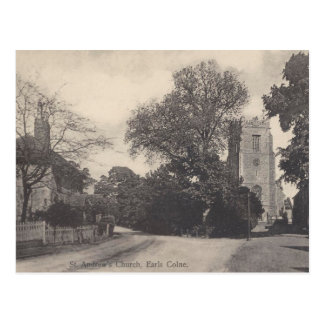 Vintage Style Earls Colne Church View Postcard