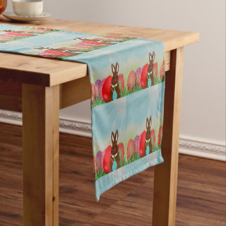 Vintage Style Easter Bunny and Eggs Table Runner