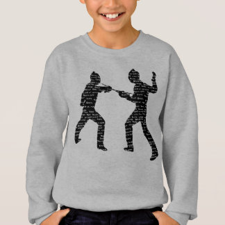 Vintage Style Fencing Typography Sweatshirt