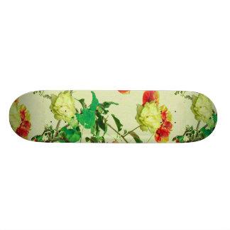 Vintage Style Floral Design Skateboard Deck