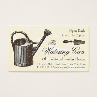 Vintage Style Florist or Garden Shop, Gardening Business Card