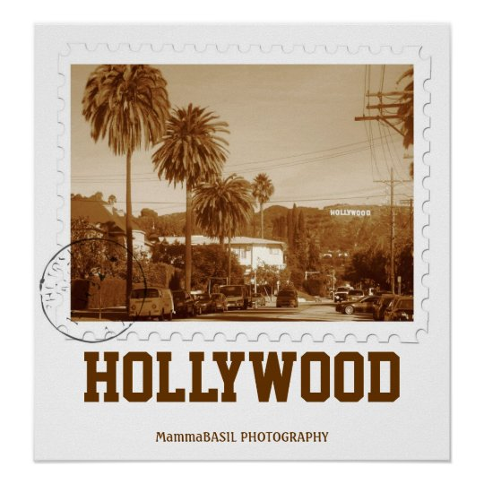 Vintage Style Hollywood Poster! Poster