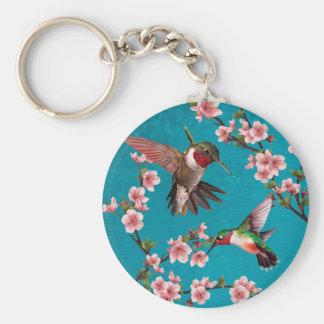 Vintage Style Hummingbird Painting Keychain