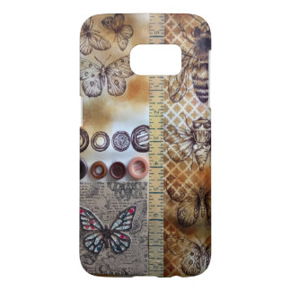 Vintage style insect print samsung galaxy s7 case