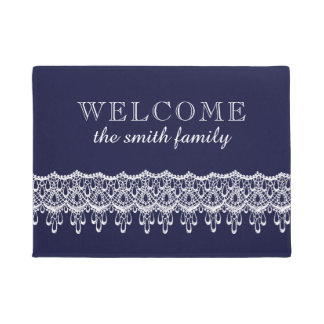 Vintage Style Lace Design Welcome Doormat