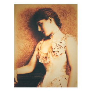 Vintage style Lillie Langtry postcard