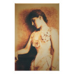 Vintage style Lillie Langtry poster