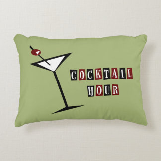 {Vintage Style} Martini Decorative Pillow