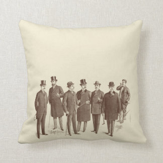 Vintage Style Masculine Sofa Mens Fashion Quirky Throw Pillow