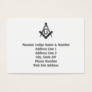 Vintage Style Masonic Lodge Business Card