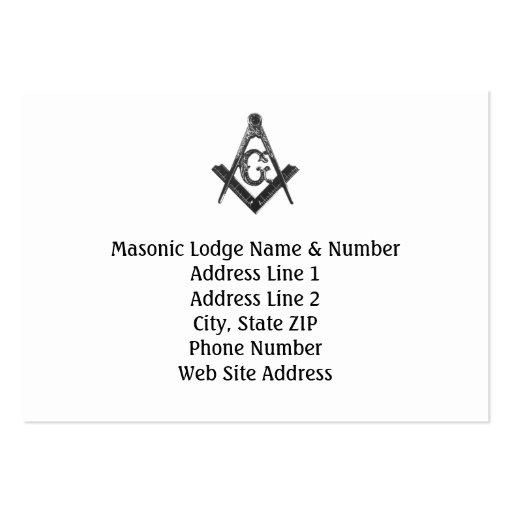 Vintage Style Masonic Lodge Business Card