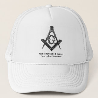 Vintage Style Masonic Lodge Trucker Hat