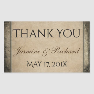 Vintage Style  Nautical Chart Thank You