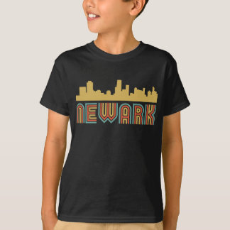 Vintage Style Newark New Jersey Skyline T-Shirt