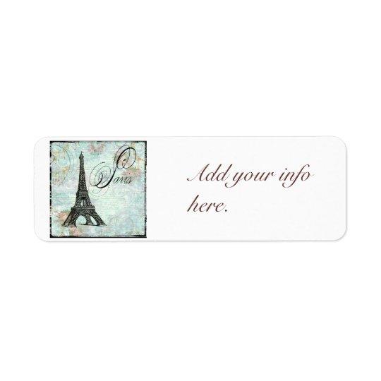 Vintage Style Paris Eiffel Tower