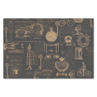 Vintage Style Paris | Old Script | Decoupage Tissue Paper