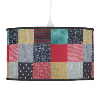 vintage style patchwork fabric design colorful pendant lamp