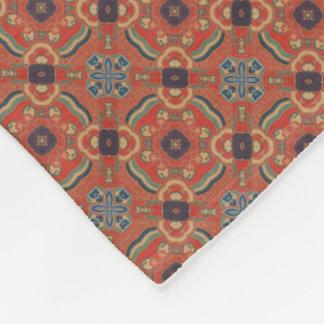 Vintage style pattern in gold metallic decorative fleece blanket