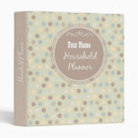 Vintage Style Personalized Home Management Binder