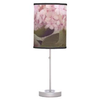 Vintage Style Pink Lavender Hydrangea Oil Pastel Desk Lamps