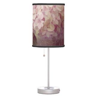 Vintage Style Pink Lavender Hydrangea Oil Pastel Table Lamp