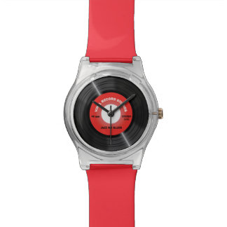 Vintage Style Red 45 rpm Vinyl Record Watch