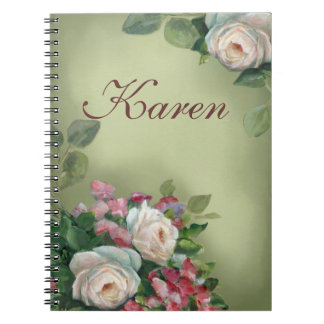 Vintage style Roses Notebooks