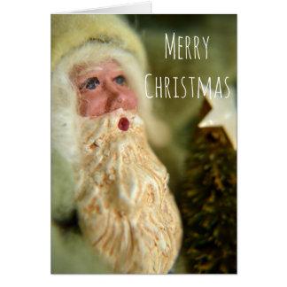 Vintage style Santa Christmas Greeting Card