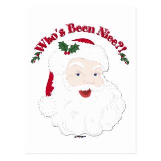 Vintage Style Santa Who's Been Nice?! Postcard