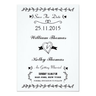 Vintage style save the date postcards