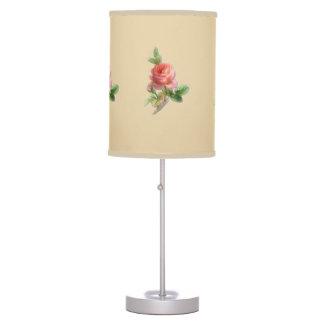 Vintage Style Shabby Chic Blush Pink Rose Lamp