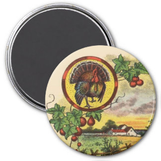 Vintage Style Tom Turkey in the Country Magnet