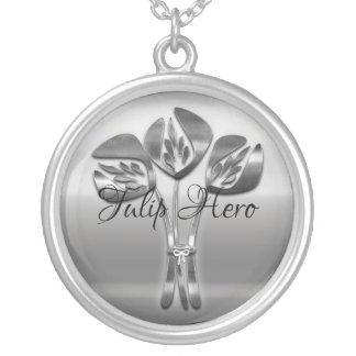 Vintage Style Tulip Hero Necklace