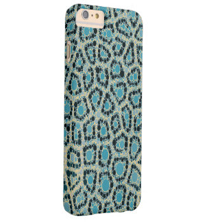 Vintage Style Turquoise Cheetah Barely There iPhone 6 Plus Case