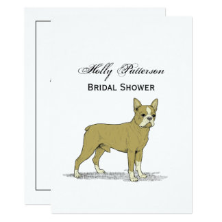 Vintage Stylized French Bulldog C Card