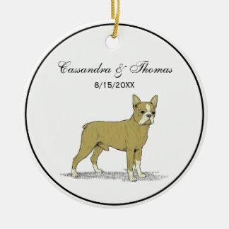 Vintage Stylized French Bulldog C Ceramic Ornament