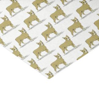 Vintage Stylized French Bulldog C Tissue Paper